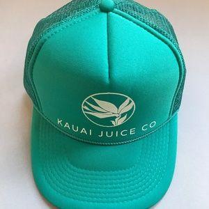 KAUAI JUICE CO Trucker Hat GREEN!